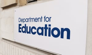 Department for Education sign
