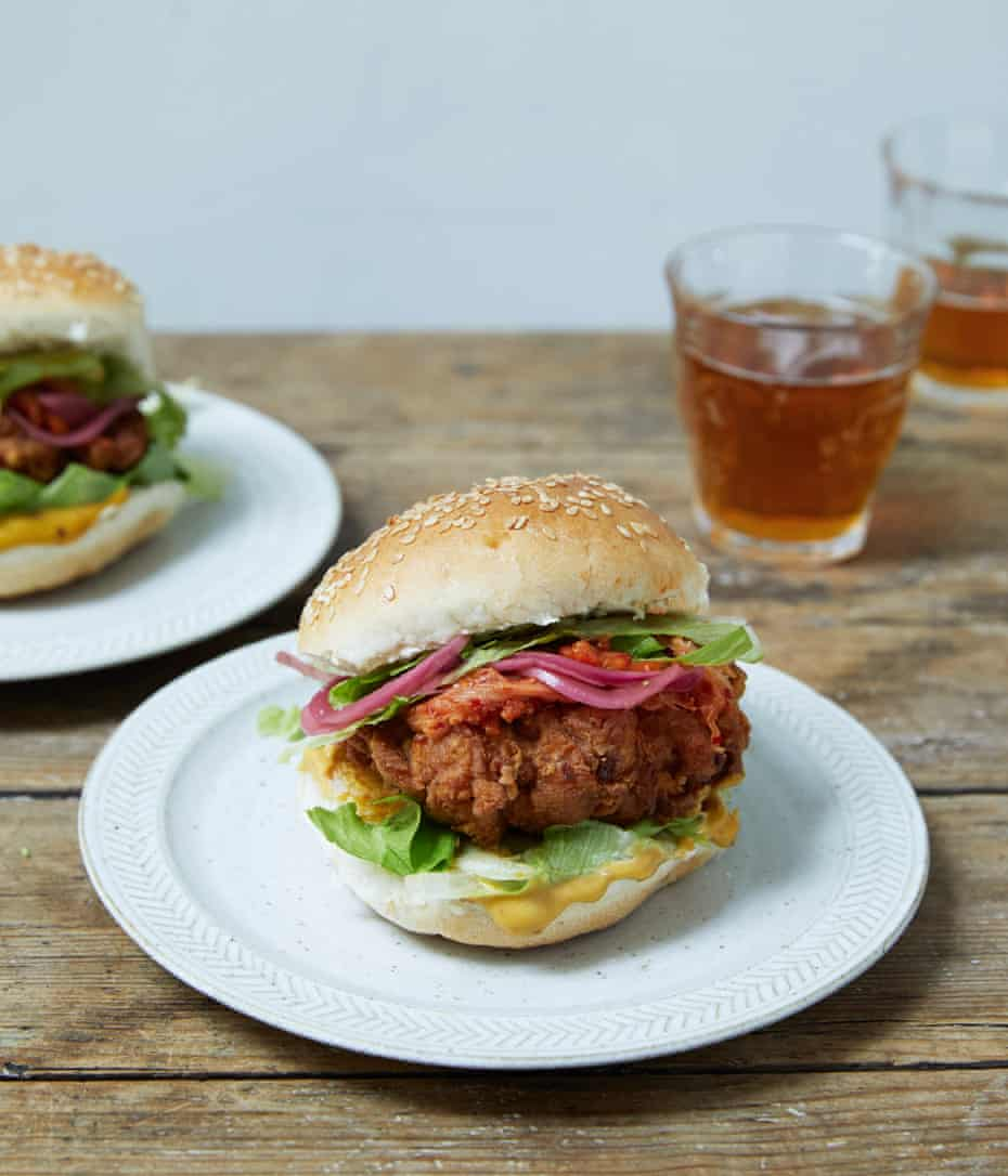 Eat ecstatically: Nigella Lawson's fried chicken sandwich.