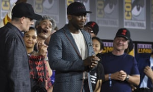 Mahershala Aliwears a hat to promote his new movie Blade.