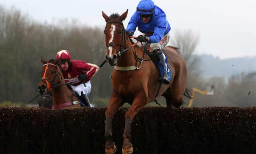 Secret Reprieve and Adam Wedge on their way to victory in the Welsh Grand National