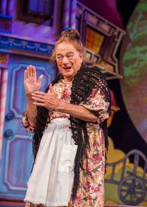 Roy Hudd in Mother Goose at Wilton's Music Hall, London, in 2016.