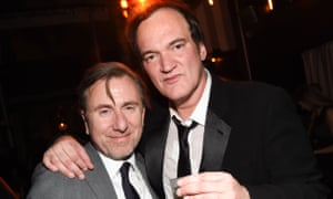 Tim Roth and Quentin Tarantino at The Hateful Eight film premiere after party