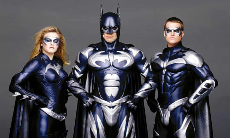 Alicia Silverstone, George Clooney and Chris O'Donnell in Batman & Robin
