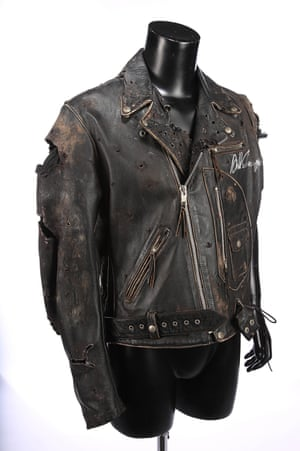 The Terminator's (Arnold Schwarzenegger) autographed motorcycle jacket from James Cameron's sci-fi thriller Terminator 2: Judgment Day. Estimate: £8,000 - £10,000