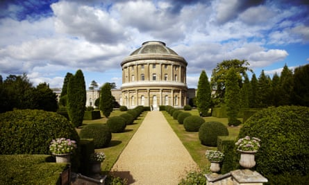 View of the Rotunda at Ickworth, Suffolk, without the scaffolding.