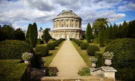 The Italianate garden at Ickworth, Suffolk.