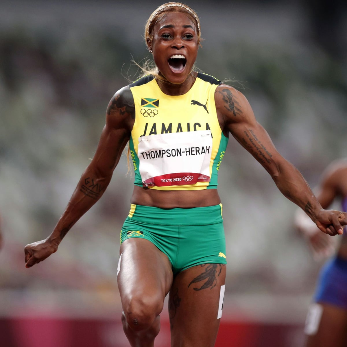 Elaine Thompson-Herah wins greatest 100m women's race ever to take gold |  Tokyo Olympic Games 2020 | The Guardian