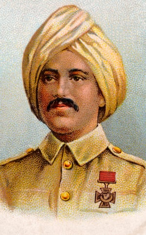 Khudadad Khan, the first Indian to receive a Victoria Cross, featured on a cigarette card in 1915.