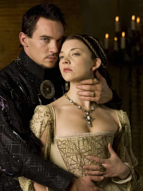 Jonathan Rhys Meyers as Henry VIII and Natalie Dormer as Anne Boleyn in The Tudors.