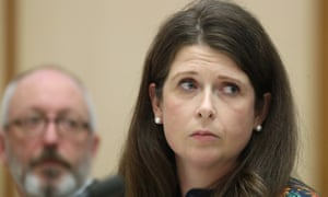 Louise Higgins, with Alan Sunderland, appears for the ABC at Senate estimates