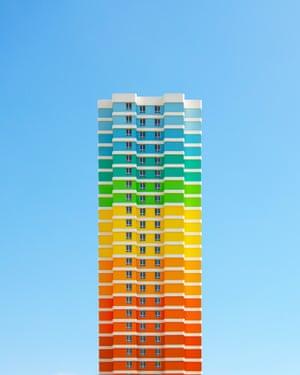 An apartment block in Avcilar district, Istanbul  by Turkish architect photographer Yener Torun.