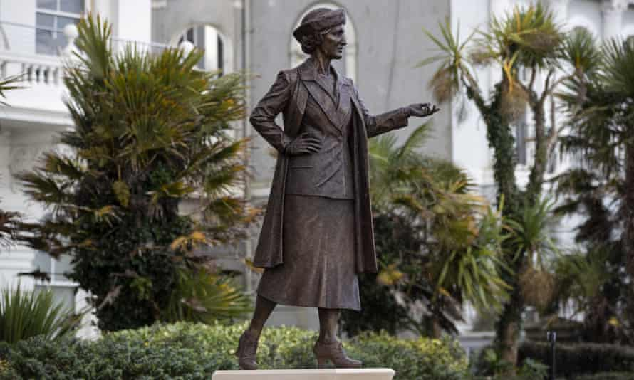 A statue of Nancy Astor, the first female MP to take her seat