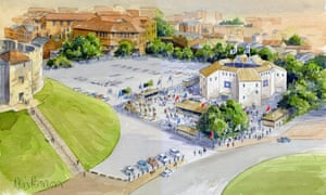 Coming up roses … an artist's impression of the pop-up Shakespeare theatre in York
