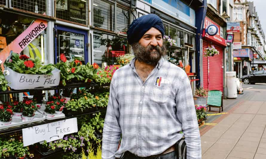 Surinder Josan outside his family-run business All Seasons DIY in Smethwick, West Midlands.