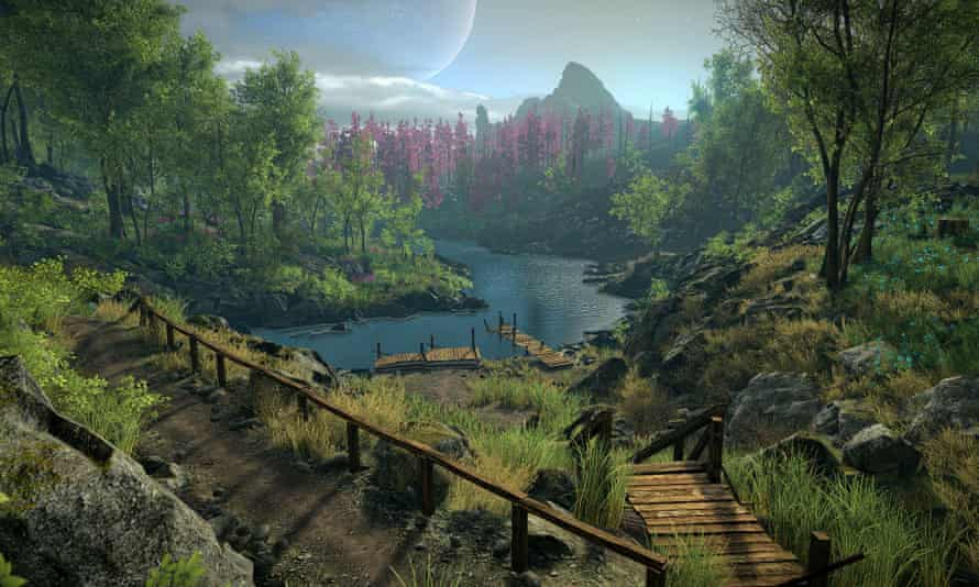 Screengrab from the video game Eastshade