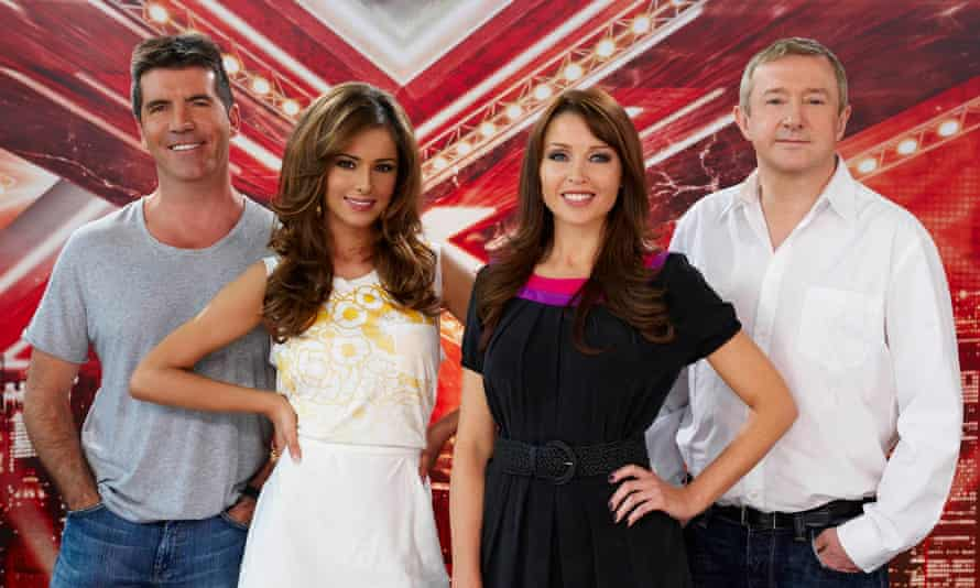 With X Factor judges Simon Cowell, Dannii Minogue and Louis Walsh in 2008.