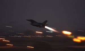 An F-16 Fighting Falcon takes off from Incirlik air base in Turkey, on Wednesday.