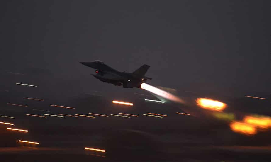 An F-16 Fighting Falcon takes off from Incirlik airbase, Turkey, last year.
