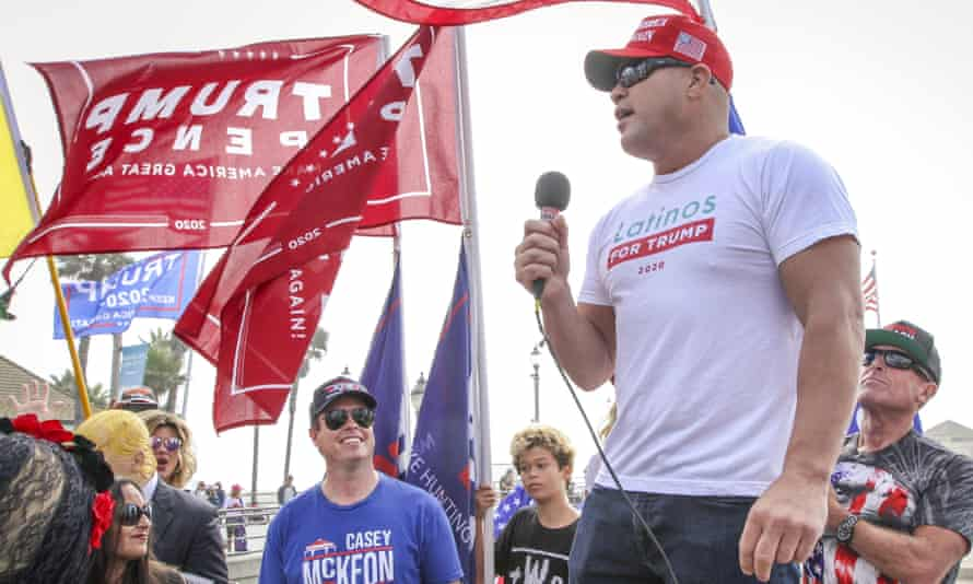 Former UFC champion Tito Ortiz is a promoter of the QAnon conspiracy theory