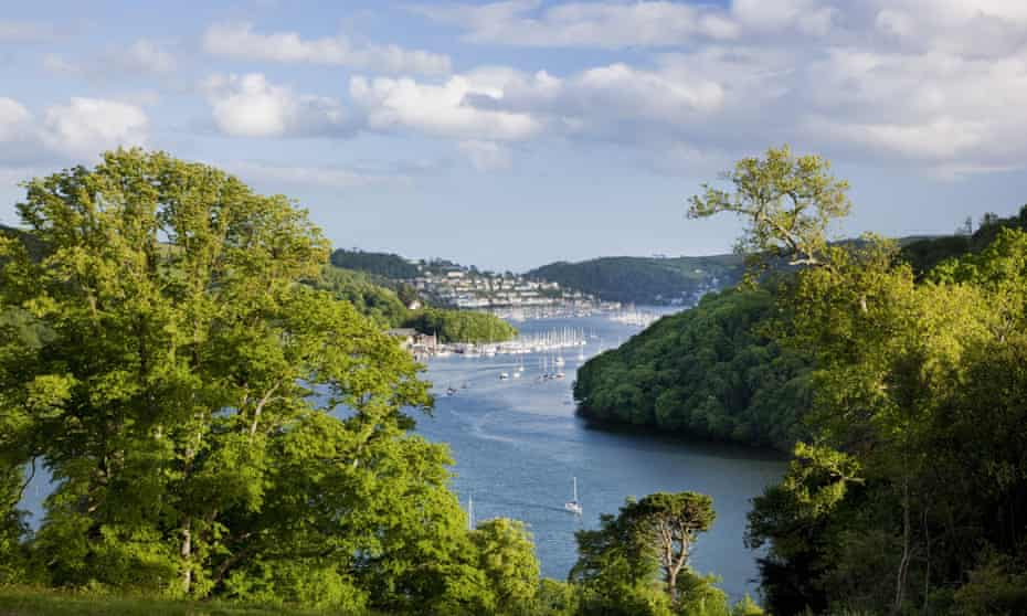 'The loveliest place in the world': view of the Dart Estuary from Agatha Christie's holiday home, Greenway, Devon.