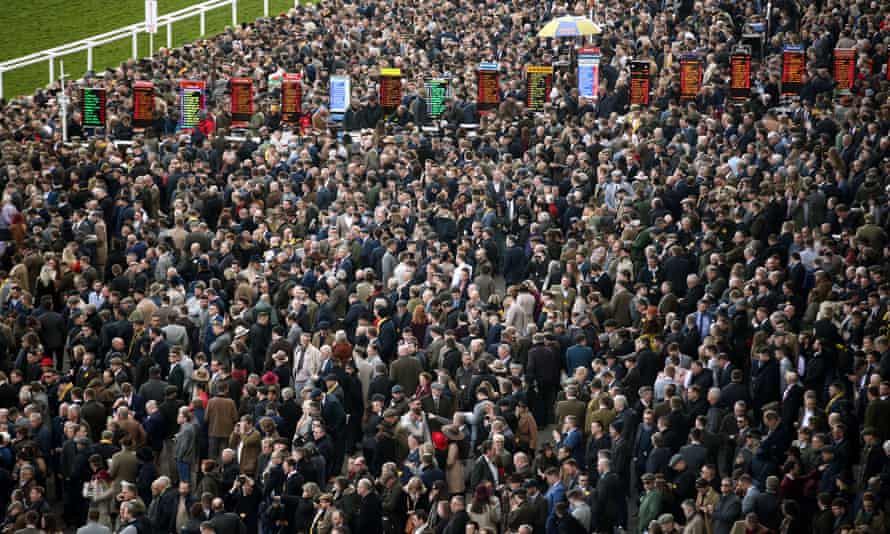 The crowd for day four of the Cheltenham Festival was 68,859, less than 3,000 below last year's record for Gold Cup day.