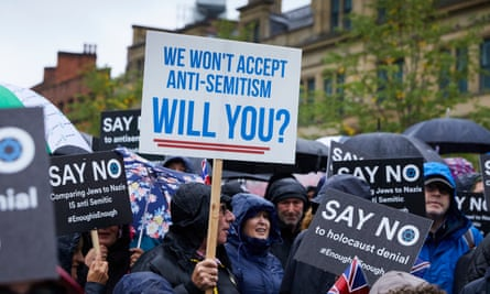 A protest in Manchester over the rise in antisemitism, September 2018