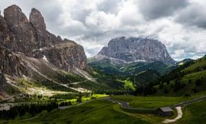 The Val di Fassa area of the Dolomites.