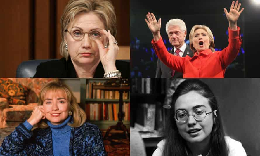 Phases of Hillary … (clockwise from bottom right) the student leader at Wellesley 1969; as First Lady in 1992; as New York senator in 2005; presidential hopeful, with ex-president husband, in 2015.