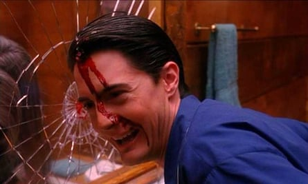 Kyle MacLachlan in the final scene of season two of Twin Peaks