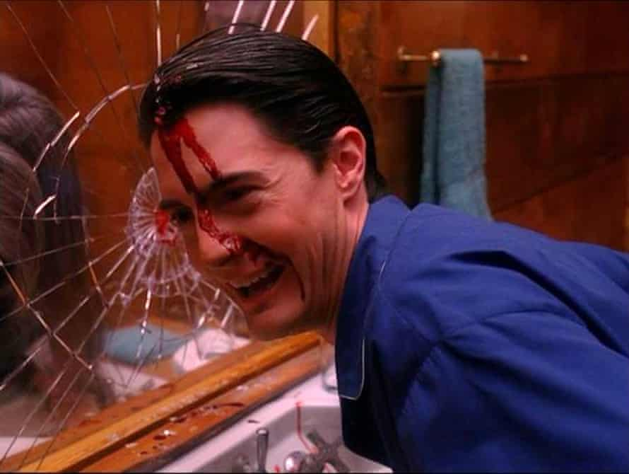 What next? Kyle MacLachlan in the original Twin Peaks' alarming final scene.