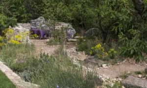 James Basson's L'Occitane Garden features drystone walls