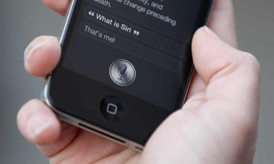 Siri in action on an iPhone 4s, the model that introduced it, in 2011.