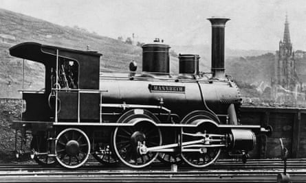 """A 19th century German Steam Locomotive known as the """"Giant of the Sixties"""""""