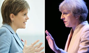 Nicola Sturgeon and Theresa May.