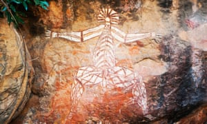 Aboriginal cave art in Kakadu National Park in the Northern Territory.