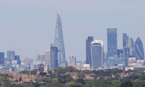 A general view of the London skyline