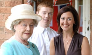 Rosemary Leach, left, as the Queen in the BBC's Tea With Betty, 2006.