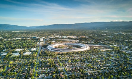 The donut-shaped Apple headquarters in Cupertino, California, has been valued at $4.17bn.