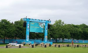 A general view of the Euro 2020 Fan Zone at Glasgow Green.