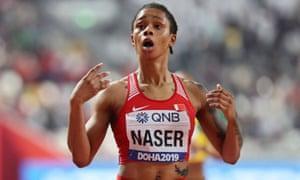 Salwa Eid Naser at last year's world championships in Doha