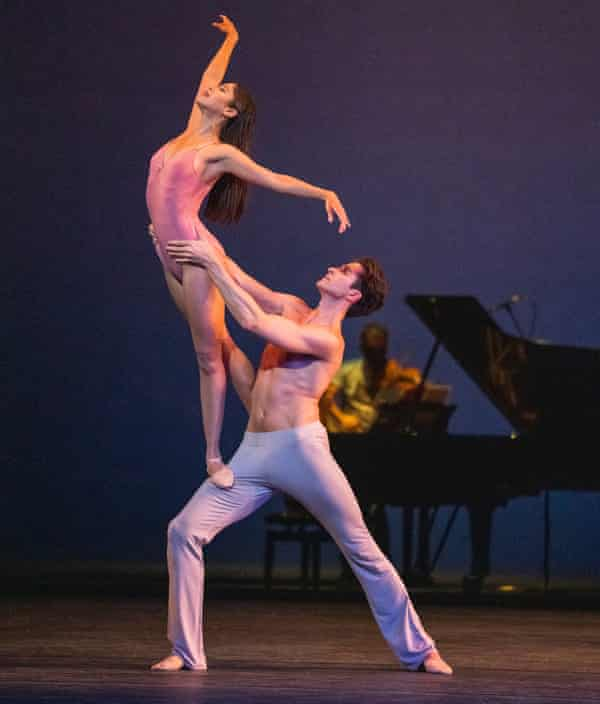 With Reece Clarke in After the Rain pas de deux by Christopher Wheeldon.