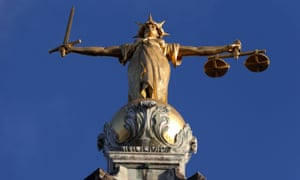FW Pomeroy's Statue of Lady Justice atop the Central Criminal Court building at the Old Bailey, London.