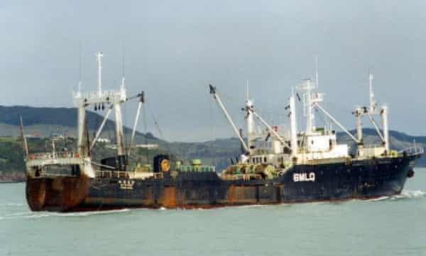 The Oyang 70 South Korean fishing trawler.