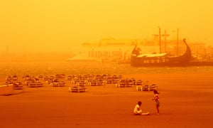 A sandstorm from the Sahara hits Tenerife on Sunday