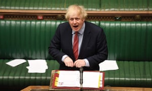 Boris Johnson at PMQs in the House of Commons on Wednesday