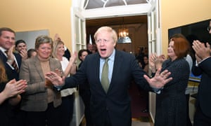 Boris Johnson at No 10 Downing Street after his election victory, December 2019