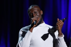 Stormzy was named best British male artist at the 40th Brit awards.