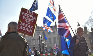 An anti-Brexit protest.