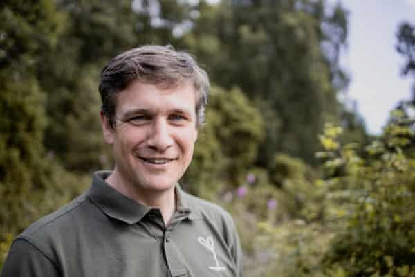 Alan McDonnell para Affric Highlands, Escocia, director de conservación del Reino Unido para la reconstrucción de la organización benéfica Trees for Life