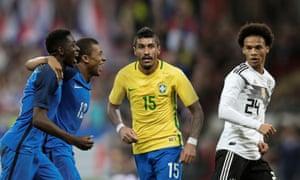 15534acce7a On the road to Russia: France's Ousmane Dembélé and Kylian Mbappé, Brazil's  Paulinho and